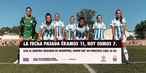 Ação sobre feminicídio tira jogadoras de campo na Argentina