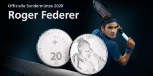 Roger Federer será rosto de moedas de 20 e 50 francos suíços