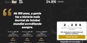 Mesmo sem jogos, Santos alavanca sócios-torcedores