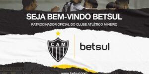 Atlético-MG anuncia patrocínio com site de apostas Betsul