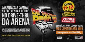 BMG fará drive-thru na Arena Corinthians para entregar nova camisa