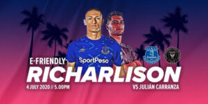 Com Richarlison, Everton fará amistoso virtual contra o Inter Miami
