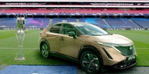 Nissan usa Champions League para drive-in com donos de carro elétrico