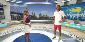 Eurosport se destaca ao inserir virtualmente tenistas dentro de estúdio