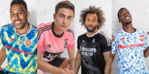 Adidas recria camisas icônicas de clubes em parceria com Pharrell Williams