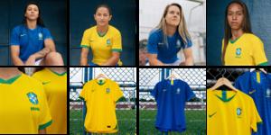 Sem estrelas do escudo, Seleção Brasileira Feminina apresenta nova camisa