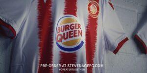 Burger King patrocinará time feminino do Stevenage e muda para Burger Queen