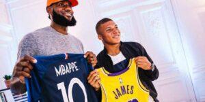 Mbappé e LeBron James trocam fotos de perfil e terão collab da Nike