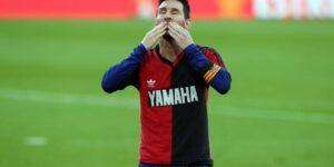 Lionel Messi é multado por homenagem a Diego Maradona