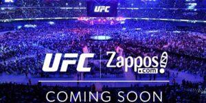 UFC fecha parceria com a Zappos