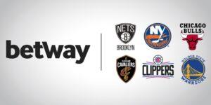 Casa de apostas esportivas Betway fecha com equipes da NBA e NHL