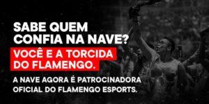 Flamengo anuncia NAVE como nova patrocinadora de seu time de eSports
