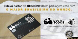 Santos oficializa patrocínio do Cartão de Todos