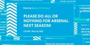 Arsenal terá série exclusiva no Amazon Prime Video