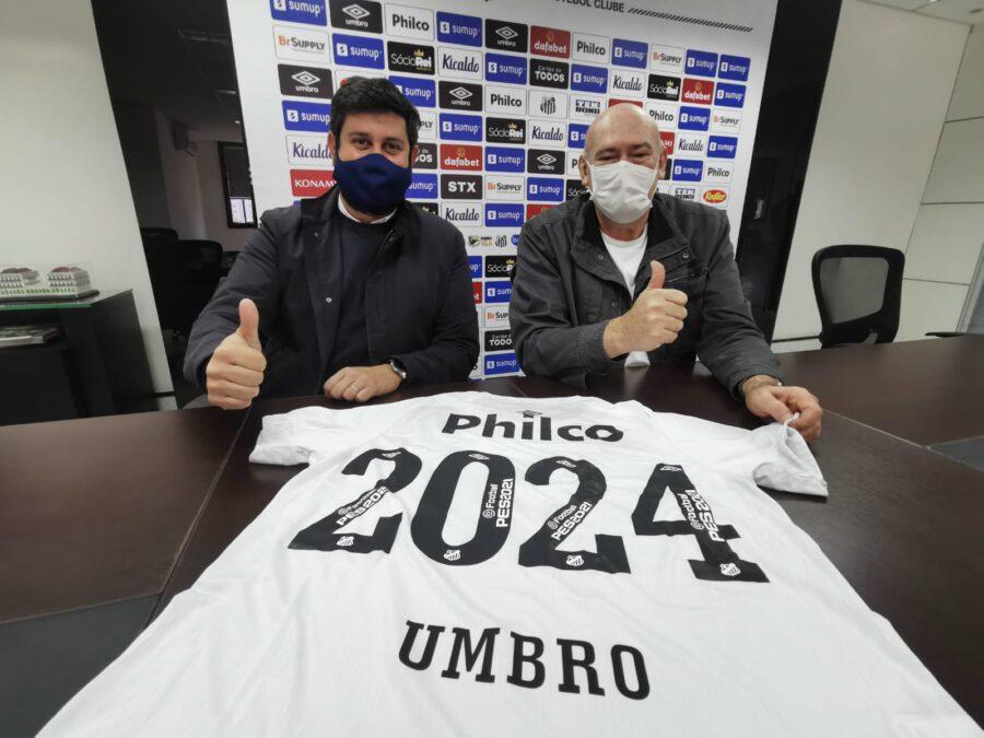 Santos renova patrocínio com a Umbro até 2024