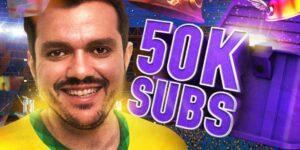 Gaules conquista 50 mil assinantes na Twitch e bate recorde nacional