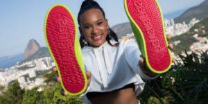 Rebeca Andrade será embaixadora de nova linha de tênis da Havaianas
