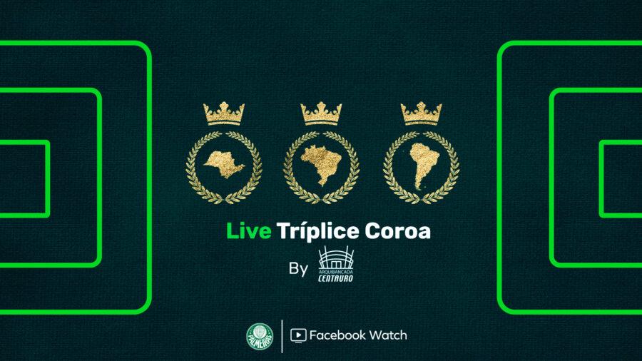 Centauro celebra Tríplice Coroa do Palmeiras com live no Facebook
